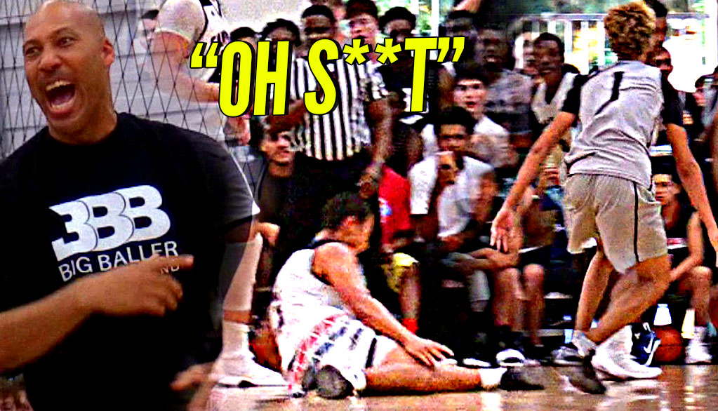 LaMelo Ball DESTROYS Defender's ANKLES In Big Ballers CRAZY GAME vs Gamepoint Elite!