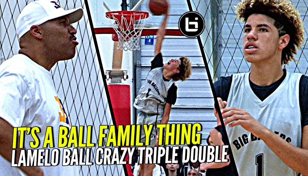 LaMelo Ball STEALS Lonzo's Shine w/ CRAZY TRIPLE DOUBLE vs Kevin Love & Brandon Jenning's Old Team! It's a BBB Thing!