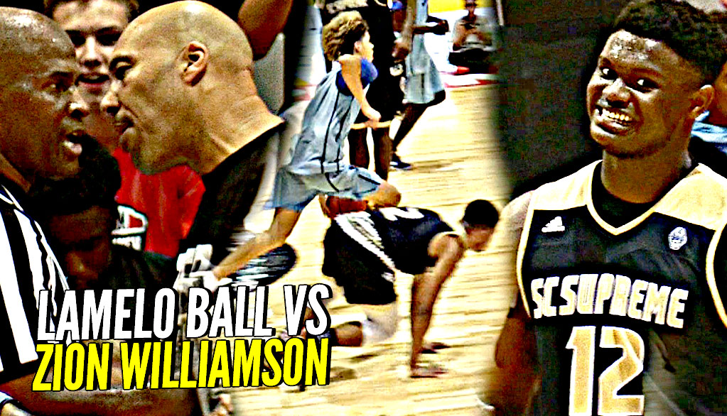LaMelo Ball vs Zion Williamson WAS INSANE!! Melo BREAKING Ankles & Zion BEASTING! INSANE CROWD!