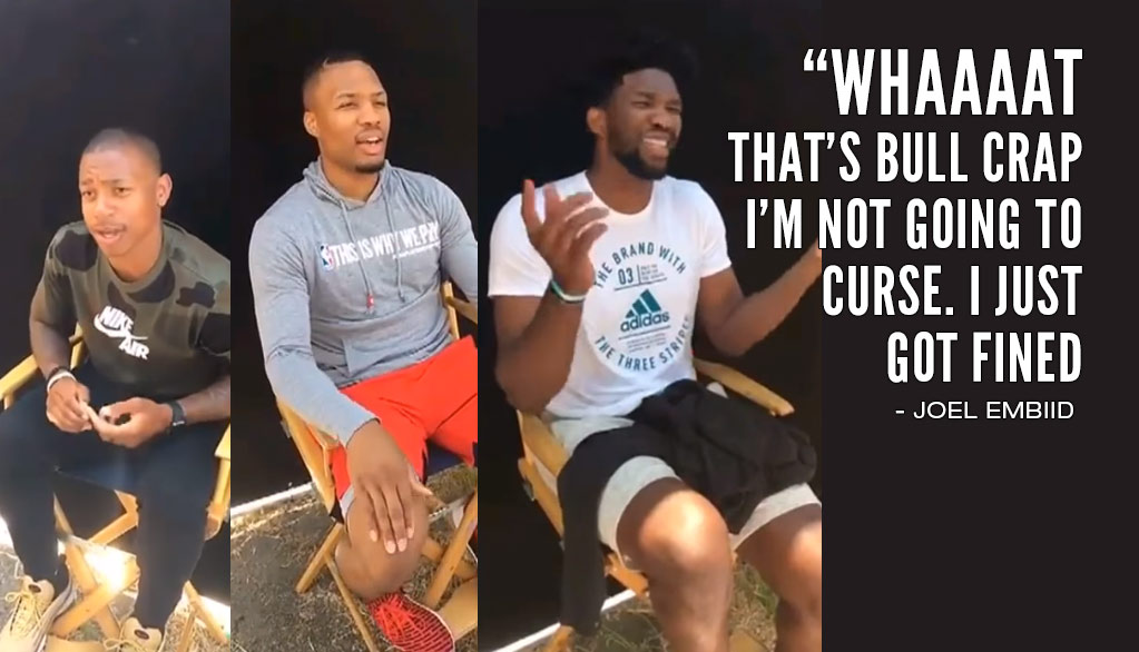 Joel Embiid & NBA Players React To Their NBA2K18 Ratings
