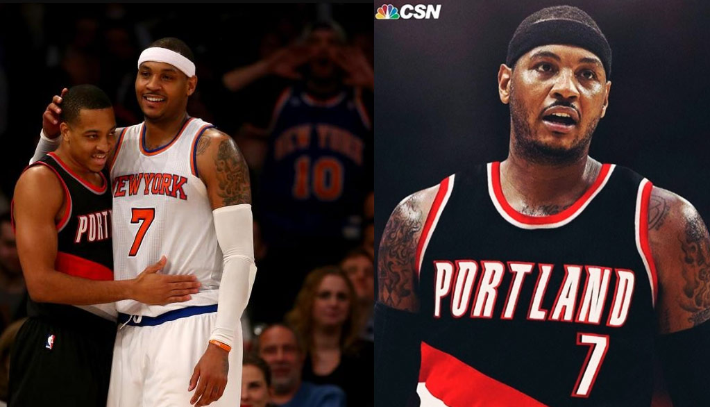 C.J McCollum Says Carmelo Anthony Would Make The Blazers A Top 3 Team In The West
