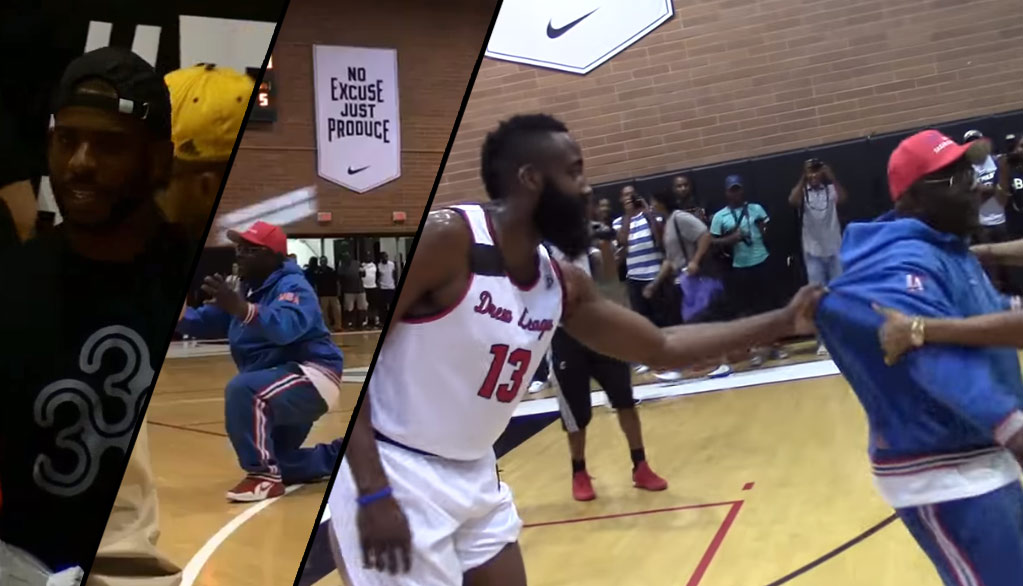 """Clippers Super Fan Sings """"Baby Come Back"""" To Chris Paul At Drew League, Harden Intervenes"""