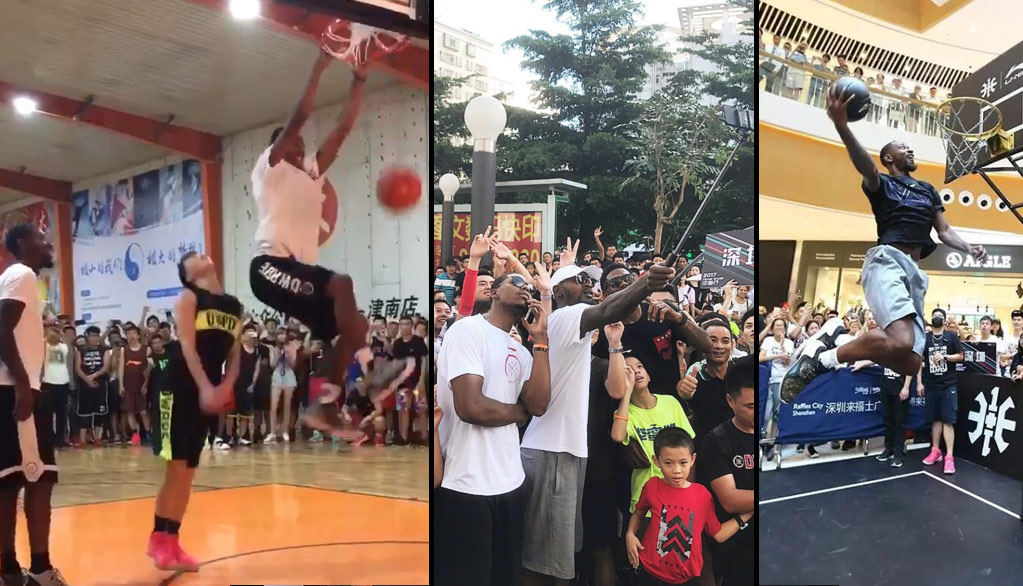 Terrence Ross, Glenn Robinson & Udonis Haslem Put On A Dunk Show During Wade China Tour…Maybe Not UD