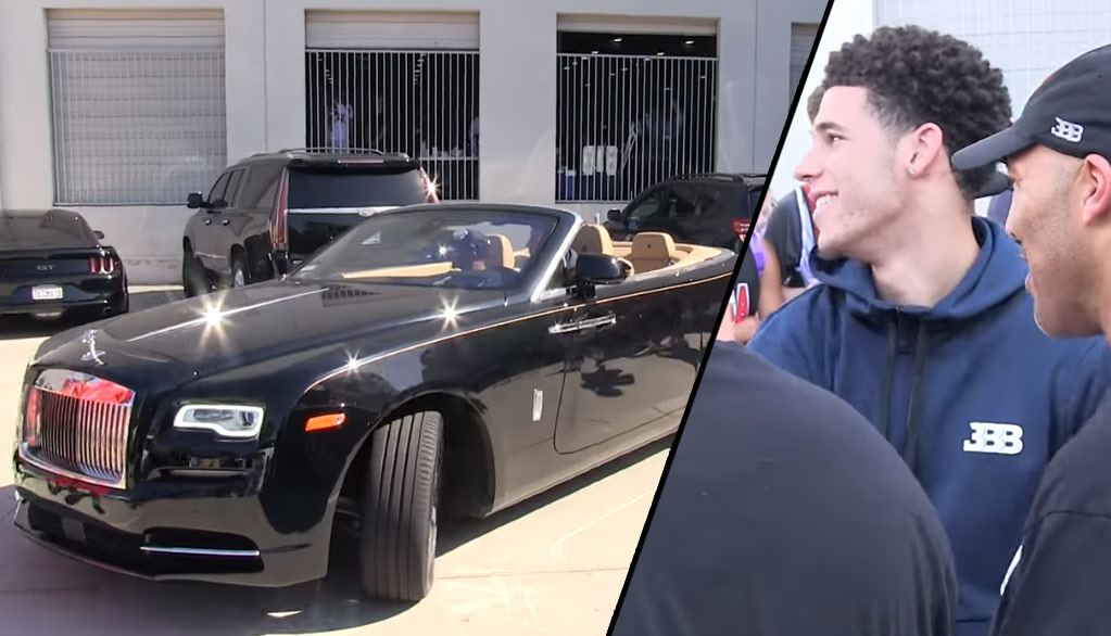check out lonzo ball's new rolls royce - ballislife