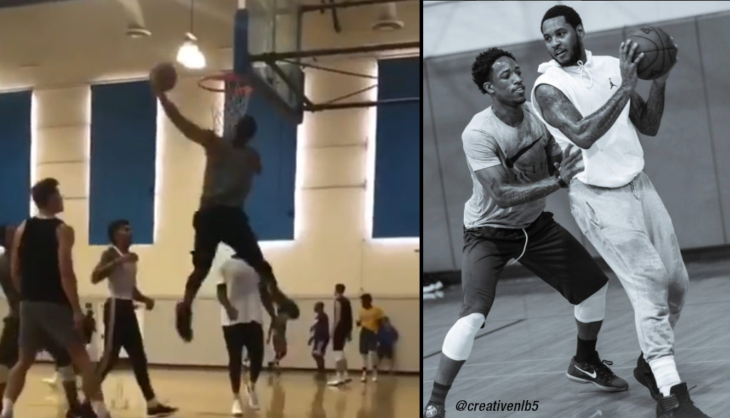 UCLA Pick-Up Game With Carmelo Anthony, DeMar DeRozan, Julius Randle & Other NBA Players