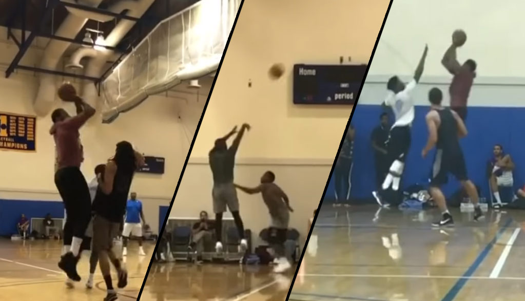 Kyrie Irving and Carmelo Anthony Playing Against Jimmy Butler In A Pick-Up Game