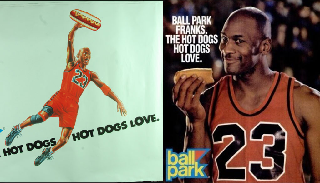 Watch All Of Michael Jordan's Ball Franks Hot Dog Commercials
