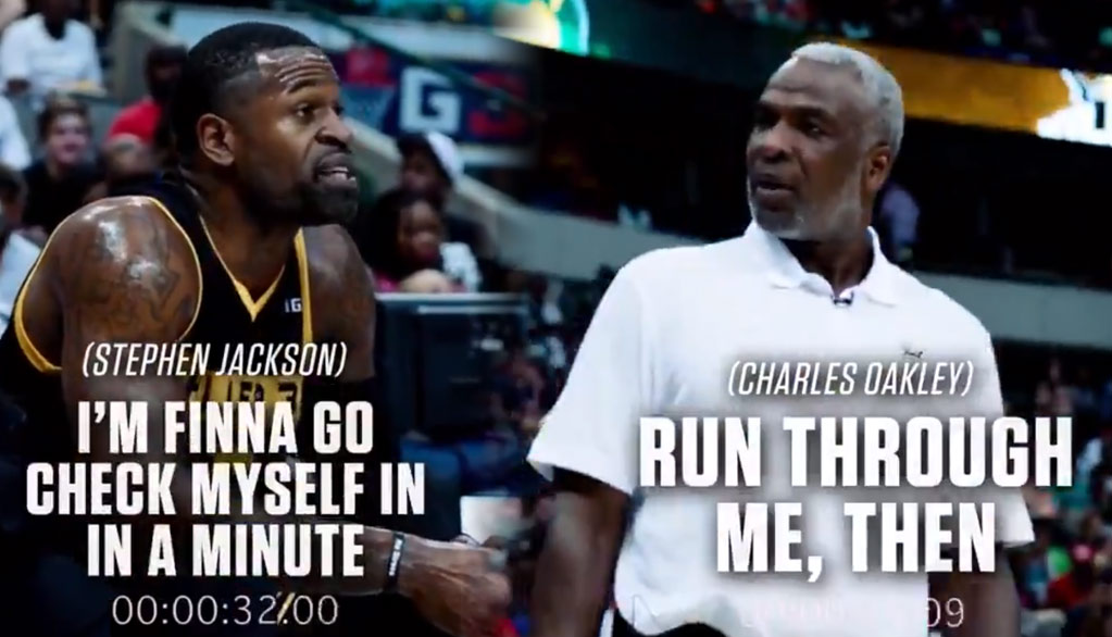 Charles Oakley and Stephen Jackson Get Into Heated Argument During Big 3 Game