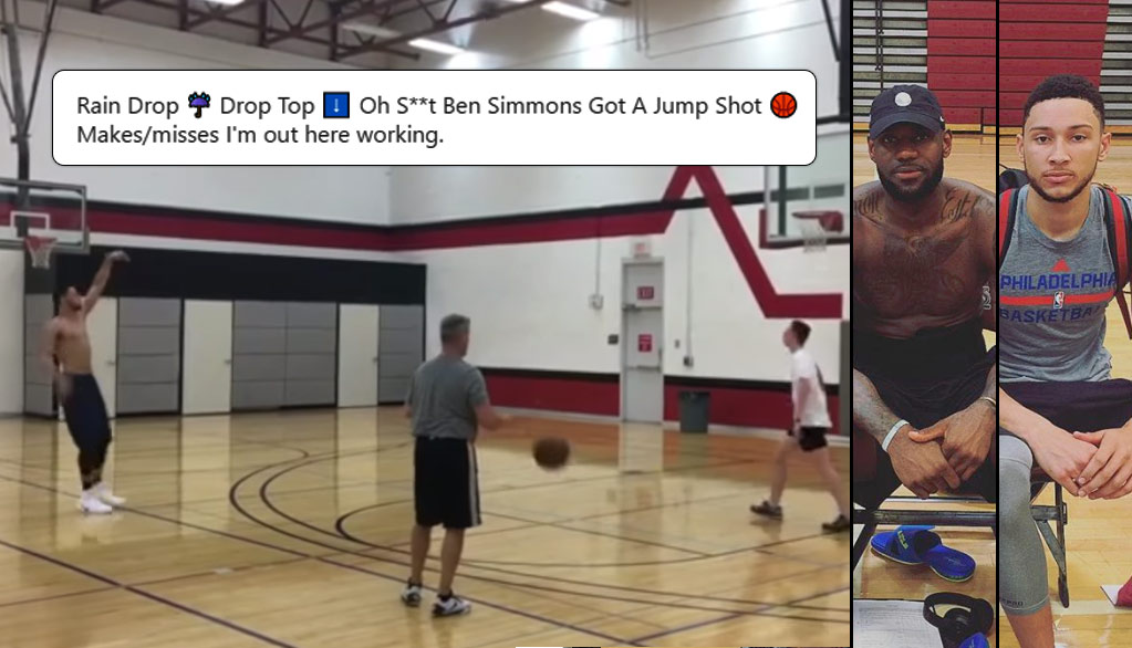 Ben Simmons Shows Off His 3-Point Shot In Practice