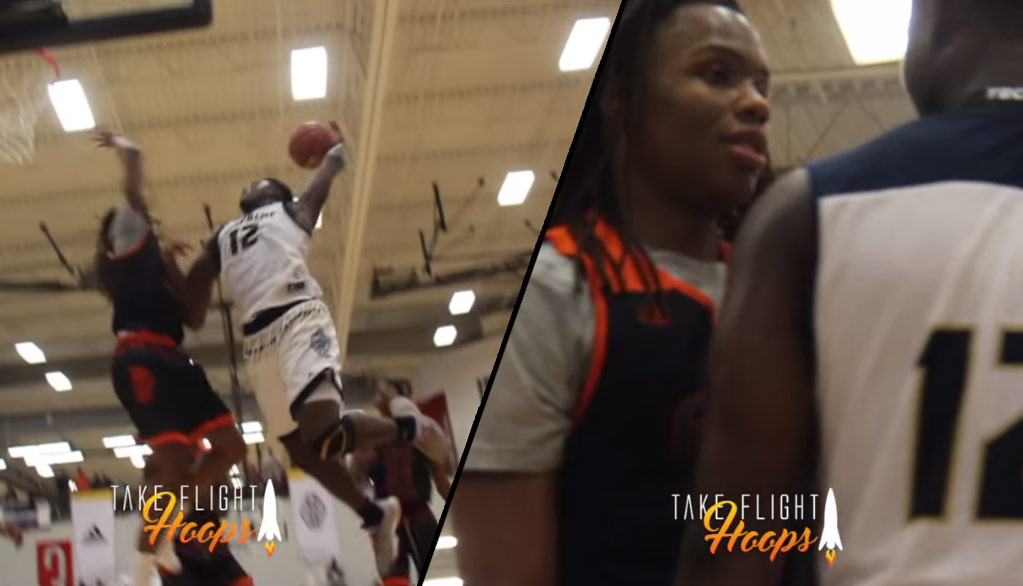 Christian Brown Swats A Zion Williamson Poster Dunk Attempt!
