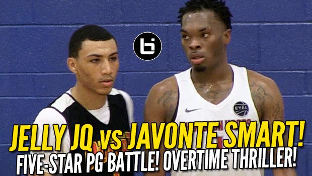 Jelly Fam Jahvon Quinerly vs Ja'Vonte Smart! 5-Star PG Battle! Naz Reid Goes Off!
