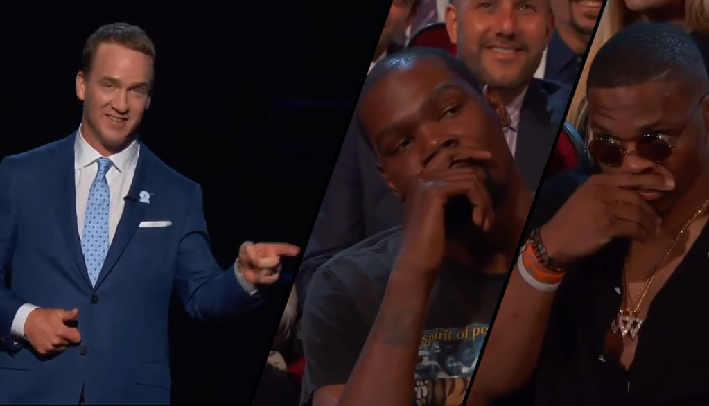 The Internet Reacts To Kevin Durant Not Reacting To Peyton Manning's ESPYS Joke
