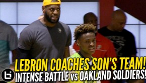 LeBron coaches Son | Ballislife.com