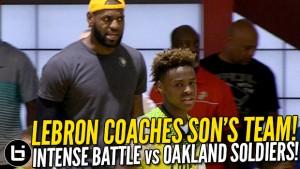 LeBron coaches Son | Ballislife.com