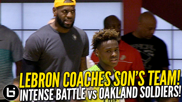 LeBron James Coaches Son LeBron Jr.! In Full Dad Mode vs Oakland Soldiers! Full Highlights!