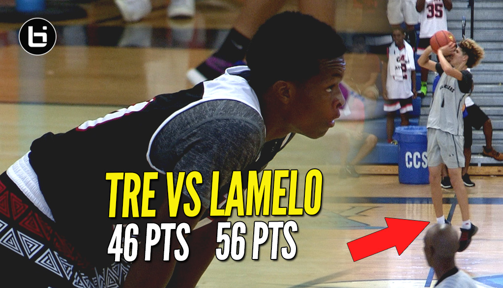 Tre Gray Serves Up 46 Points To LaMelo's 56 Points In Heated Game!!