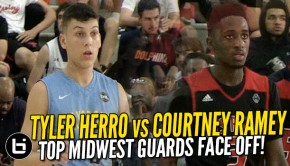 Tyler Herro Courtney Ramey | Ballislife.com