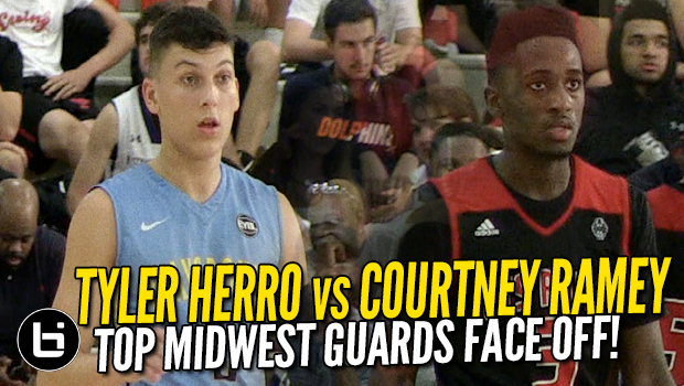 Tyler Herro vs Courtney Ramey! Top Midwest Guards Face Off! Full Highlights!