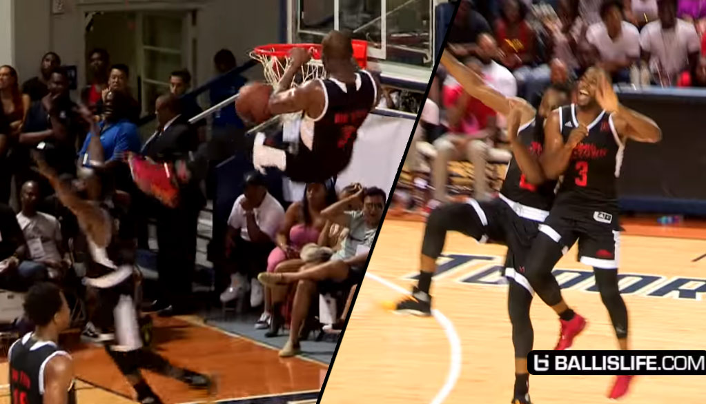 Chris Paul Catches Alley-Oop Dunk From James Harden at Charity Game + CP3's Best Oop Dunks