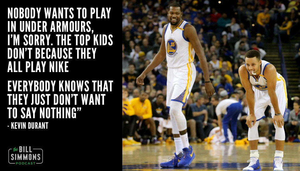 "Kevin Durant Says ""Nobody Wants To Play In Under Armours"" While Discussing Maryland Recruiting"