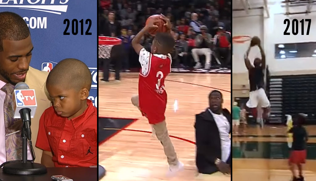 Chris Paul Throws Down An Alley-Oop From His Son + Lil Chris' Cutest Moments