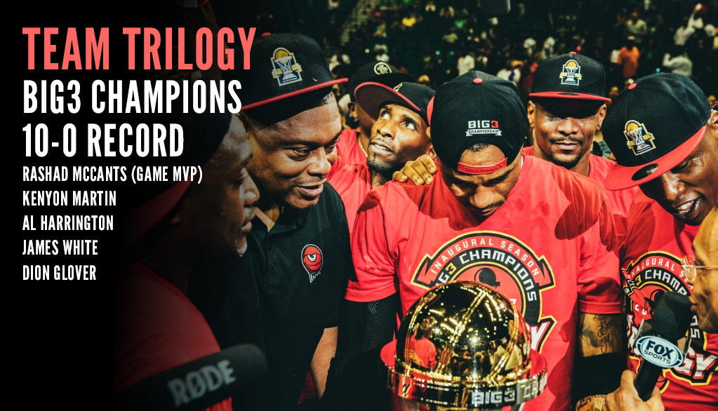 Kenyon Martin & Team Trilogy Win First Big3 Championship
