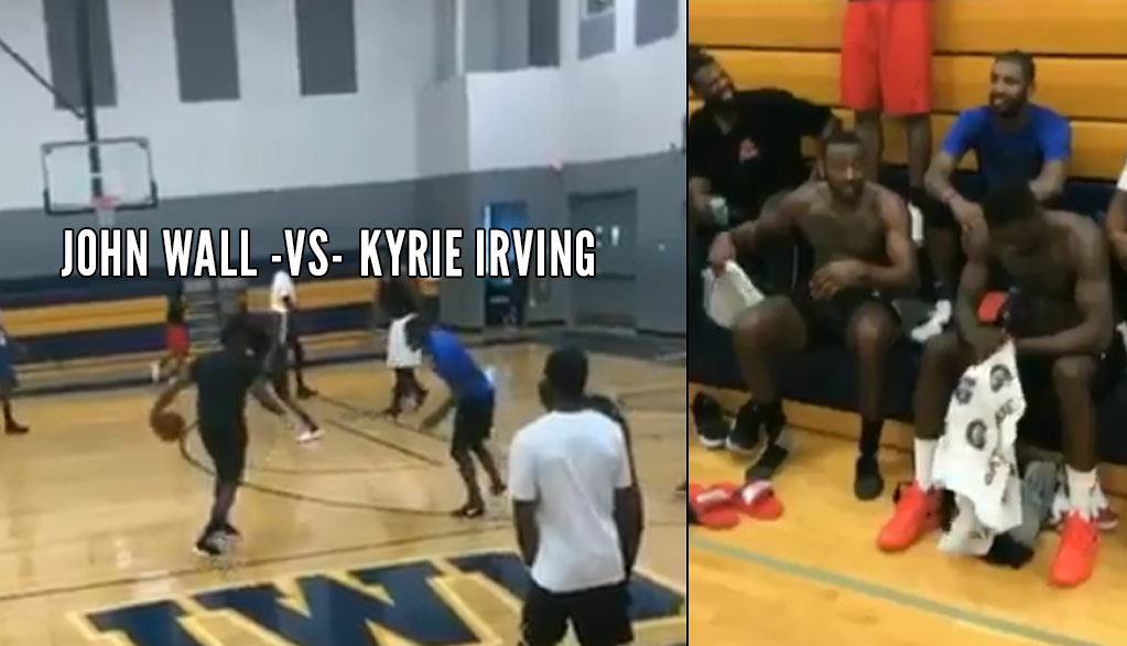 Kyrie Irving, John Wall & Hassan Whiteside Play In a Pick-Up Game In Miami