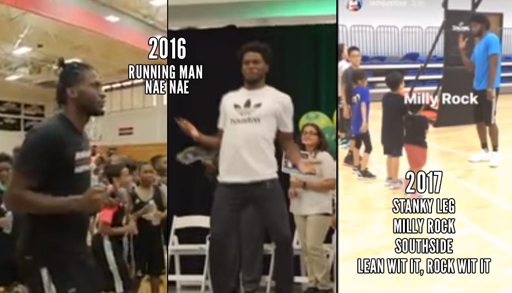 Justise Winslow teaches kids how to Milly Rock at his camp