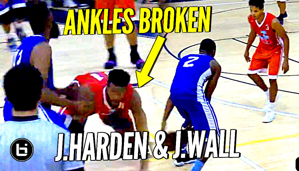 James Harden DROPS Defender & John Wall Hits BETWEEN Defender's Legs at Miami Pro League!!