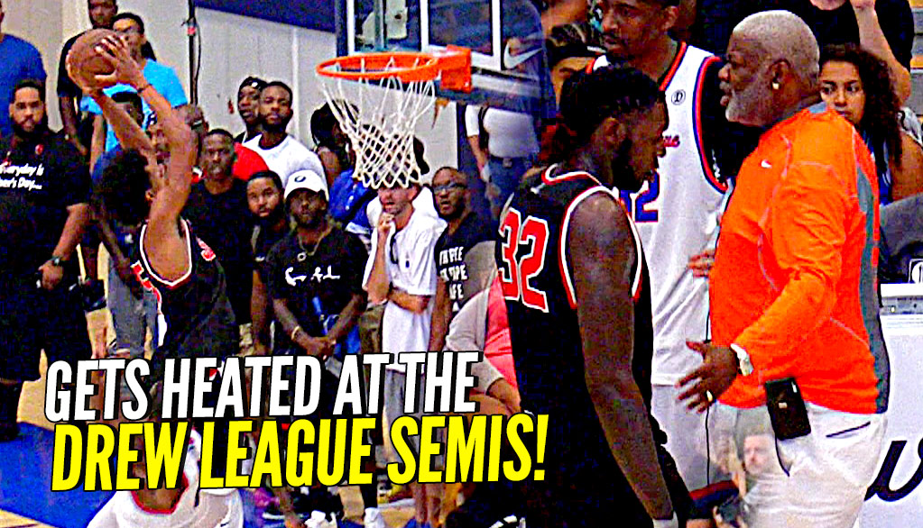 HEATED Drew League Semi-Finals!! Marvin Bagley Holds His Own vs Pros! Dorell Wright & J.Crawford Go OFF!