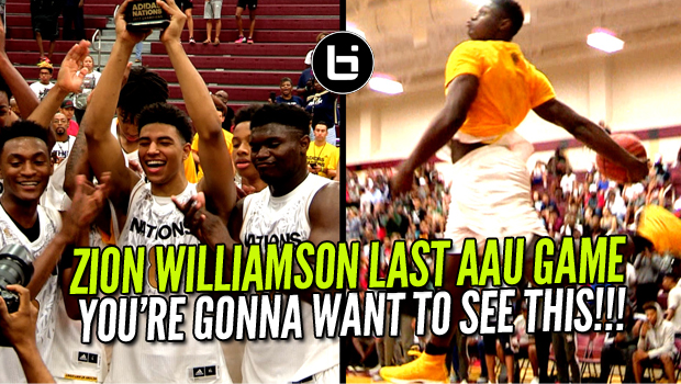 Zion Williamson WENT CRAZY In LAST AAU GAME EVER! Adidas Nations Championship Game Highlights