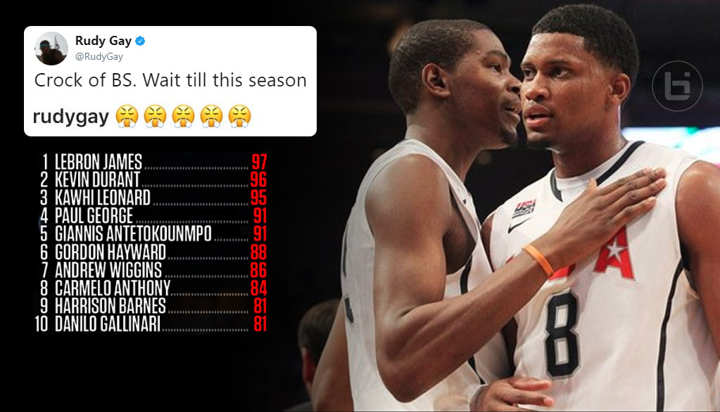 Rudy Gay Gets Pissed At NBA2K, Props From Kevin Durant