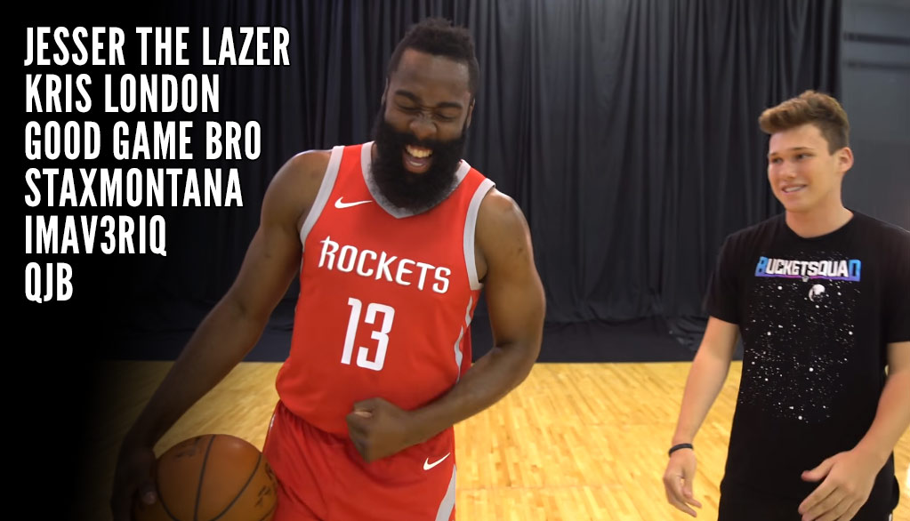 James Harden Destroys Jesser The Lazer, Kris London & YouTubers 1-on-1