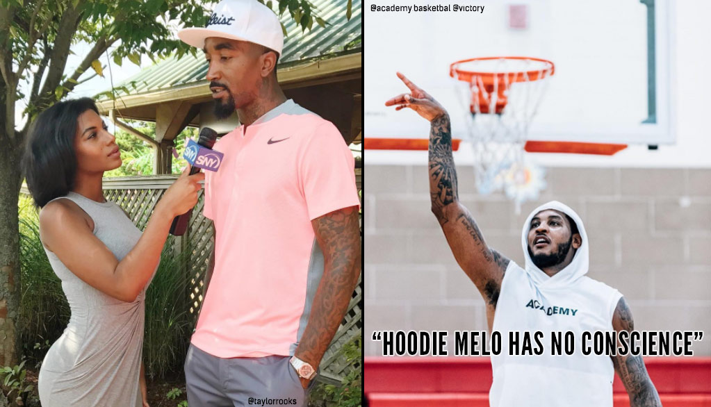 "JR Smith Explains The Difference Between Carmelo Anthony & ""Hoodie Melo"""