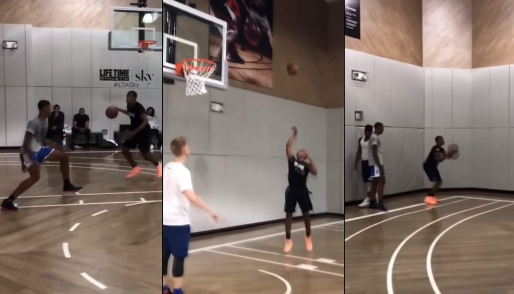 "Isaiah ""Jelly Fam"" Washington Workout, Shows Off His Shooting Touch"