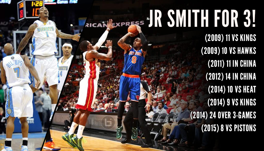 JR Smith Hits 20 Consecutive Threes In Practice + His Best 3-Point Shooting Performances
