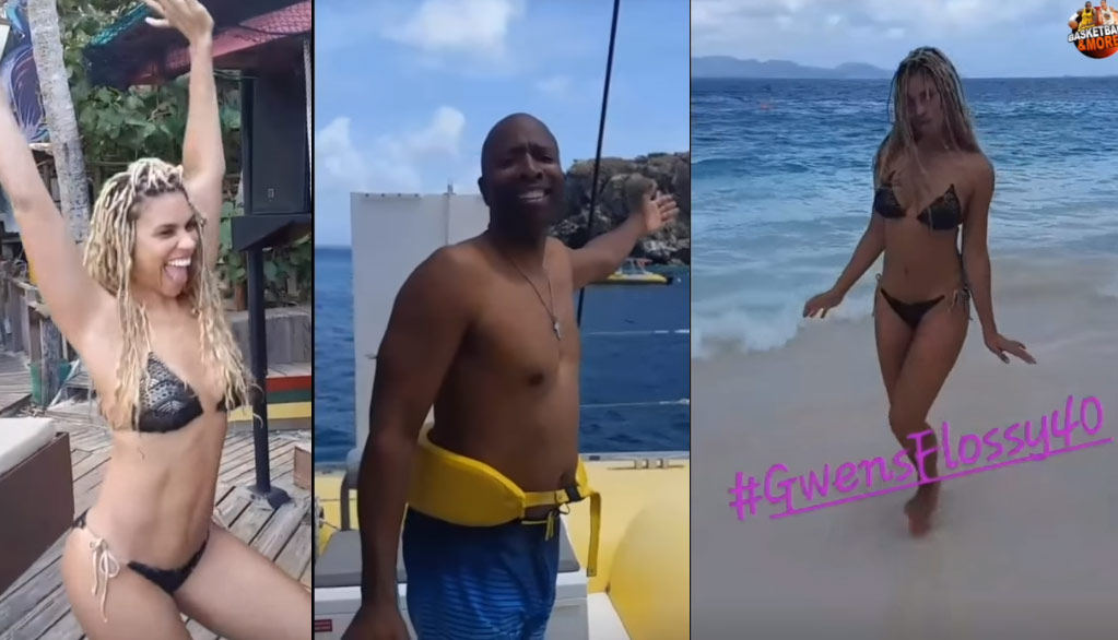"Kenny Smith Throws A ""Flossy 40"" Birthday Party On A Private Island For His Wife"
