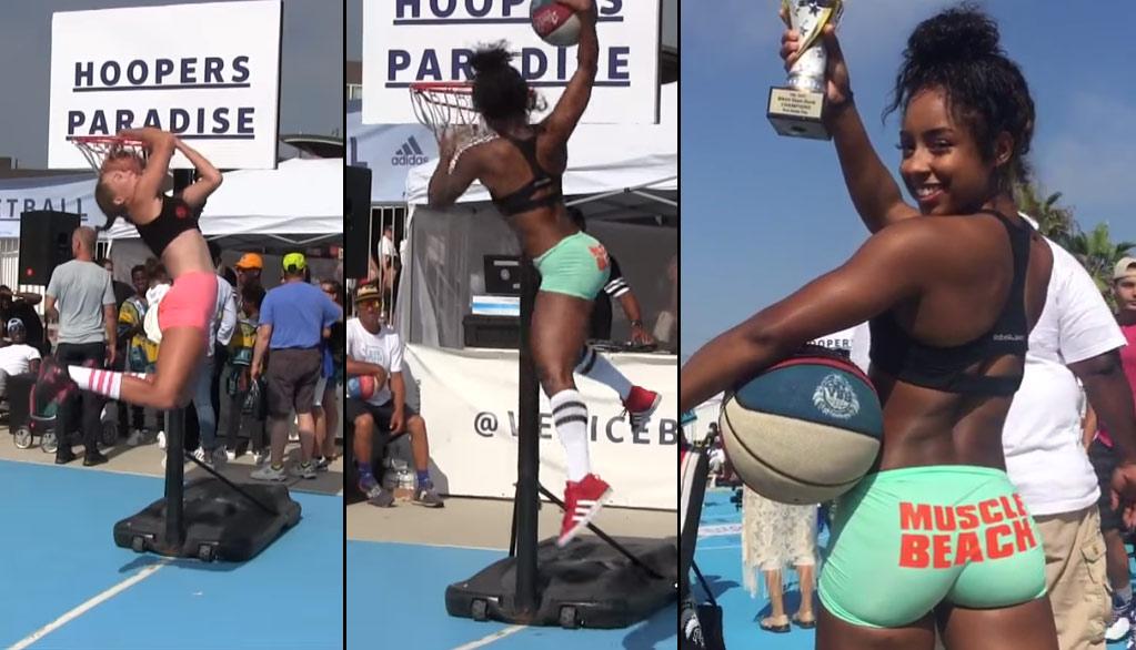 Qimmah Russo Wins VBL Bikini Dunk Contest