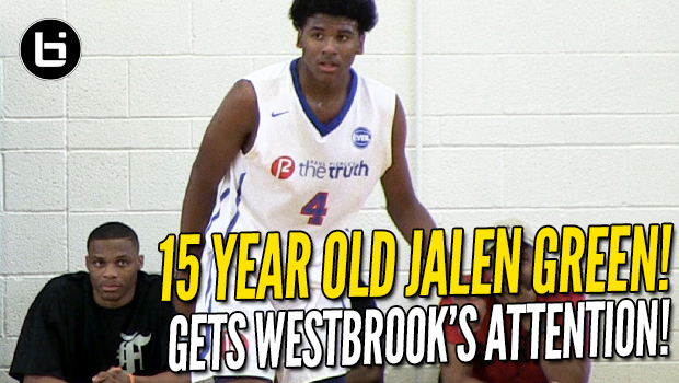 Jalen Green Gets Russell Westbrook's Attention! 15 Year Old 5-Star Guard! Full Highlights!