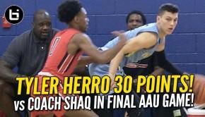 Tyler Herro vs Shaq | Ballislife.com