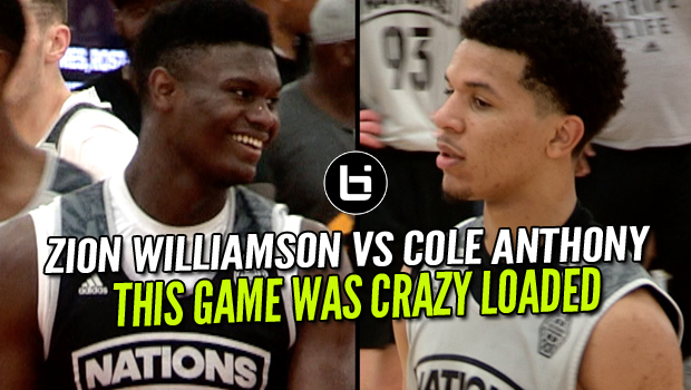 Zion Williamson VS Cole Anthony! Adidas Nations Game Was Dumb Loaded!