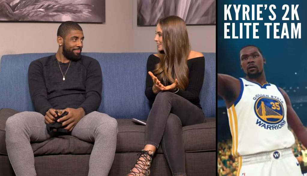 Kyrie Irving Picks His E-League Team in the S4 Premiere of NBA 2kTV with Rachel DeMita