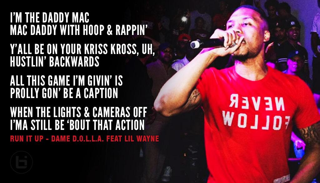 "Listen To Damian Lillard's New Song ""Run It Up"" featuring Lil Wayne"