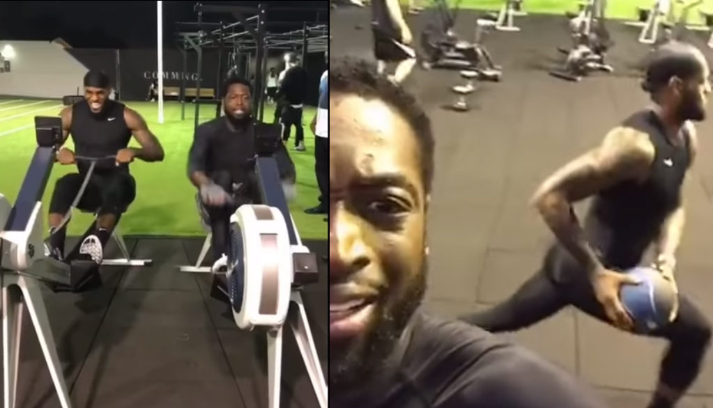 Dwyane Wade Joins LeBron James For An Intense Workout In LA