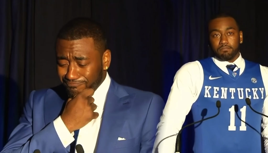 John Wall Brought To Tears Thanking His Mom During Kentucky HOF Speech