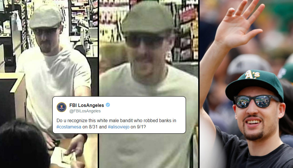 The FBI Are Searching For A Bank Robber Who Looks Like A Certain Shooter On The Warriors