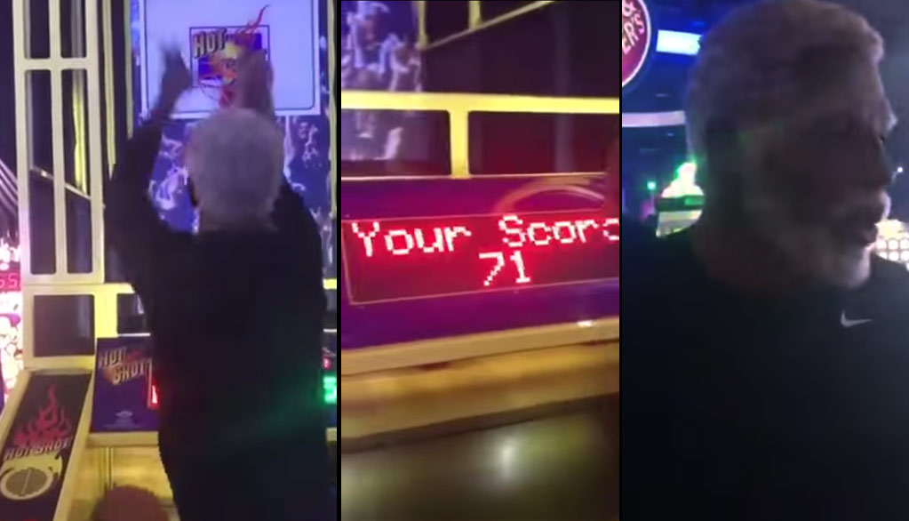 Watch Kyrie Irving, Dressed As Uncle Drew, Catch Fire Playing Pop-A-Shot At D&B