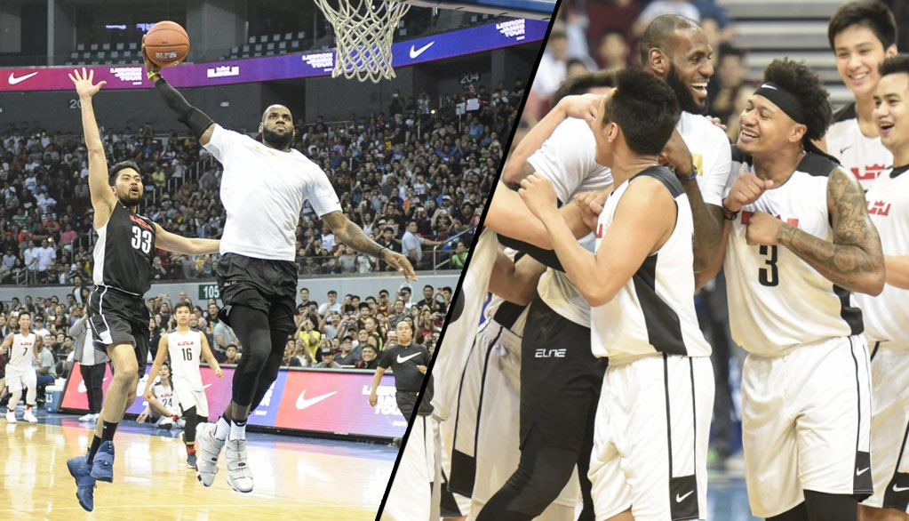 LeBron Puts On A Dunk Show During Exhibition Game In Manila