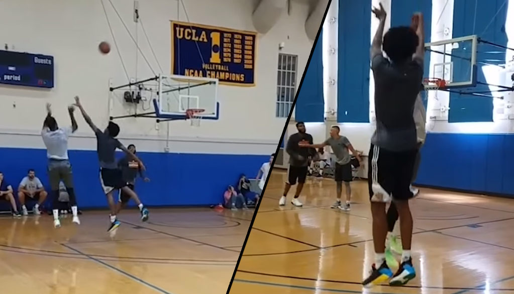 Paul George & Josh Jackson Exchanging Buckets In Pick-Up Game
