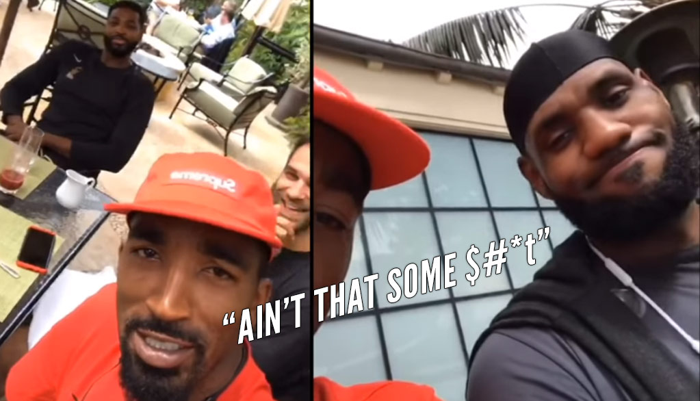 JR Smith & LeBron Are Shocked Tristan Thompson Paid For Breakfast